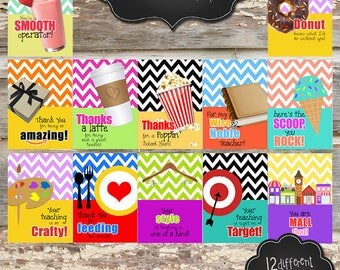 PRINTABLE GIFT CARD Holders - 5x7 - Customizable Digital File - You Print - 12 Designs to Choose From!
