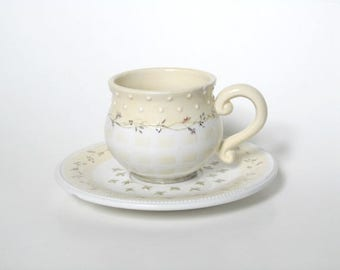 Cup and Saucuer Demdaco Woodsong Designs Devonshire