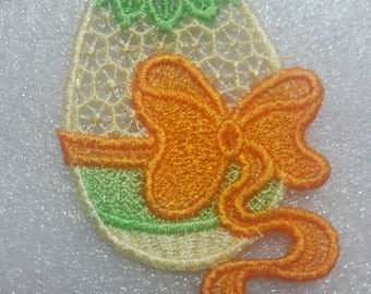 Lace Easter Egg with bow ornament