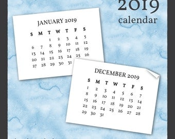 Printable January December 2013 Monthly Calendar with