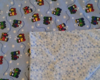 Trains Crib Blanket Double Sided Warm Flannel
