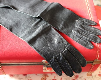 Long Italian Leather Gloves