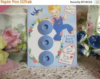 ON SALE Vintage Ink Well Buttons-Baby Blue