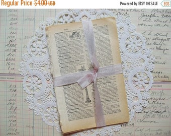 Store Closing SALE Vintage Ephemera-French Illustrated Dictionary Pages-PETITE-Altered Art-ATC-Supplies-Papers-Altered Art-Inspiration-Mixed