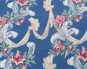 Vintage Barkcloth Fabric-2 yards -1 piece