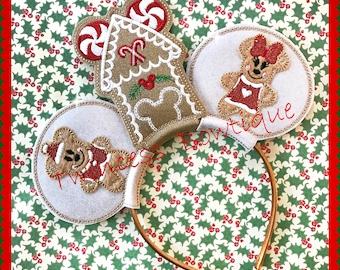 Gingerbread Mouse Ears Headband by Twincess Bowtique - CUSTOM
