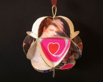 Heart Band Album Cover Ornament Made Of Record Jackets Ann Wilson Nancy Wilson