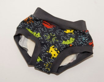 Space Invaders Video Game Cloth Training Pants - Training Undies - 18 months to 4t