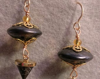 Earrings, with Artisan Lampwork and Stone