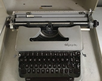 Antique Olympia Typewriter / Circa 1950