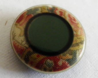 Vintage Celluloid Button Imitating Fabric