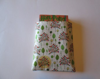 Spring, family tree fabric hard cover  book protector, book cover, book sleeve, book holder, Bible book protector