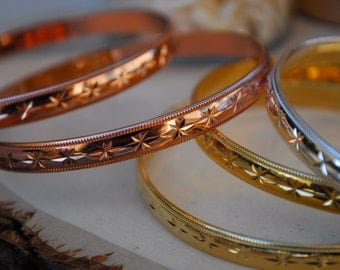 DELUXE TWILIGHT STACKER Bangle /// Gold, Silver or Rose Gold