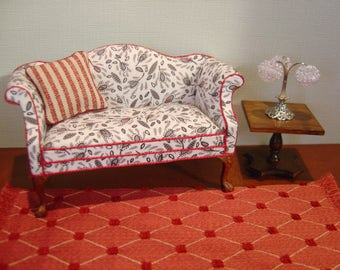 Dollhouse Refurbished Miniature Settee / Sofa 1:12 scale