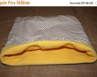 BLOWOUT SALE... XLARGE Yellow Polka Dot pouch for small pocket pets.