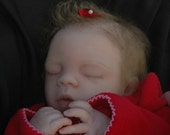 "Reborn 16"" preemie Megan, sweet little face rooted hair, lashes,brows"