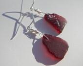 Red Sea Glass Earrings ~ ...