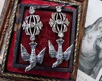 French Dove Saint Esprit Earrings, The Dove Keeper, by RusticGypsyCreations