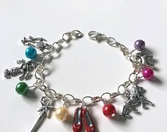 Wizard of Oz Inspired Charm Bracelet (Multicoloured)