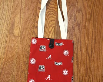 Alabama Crimson Tide Tote Bag Small Bag Red Black White