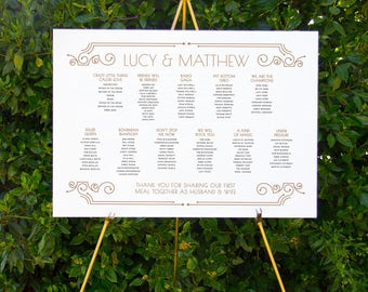 Art deco seating chart | Printable wedding signage