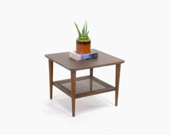 Mid Century Modern Lane Two-Tier End/Side Table