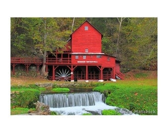 Fine Art Color Rural Americana Photography of Hodgson Mill in the Missouri Ozarks