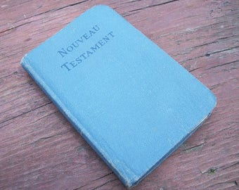 Vintage Small Book Le Nouveau Testament Dated 1918 Troisieme Edition Pocket Bible