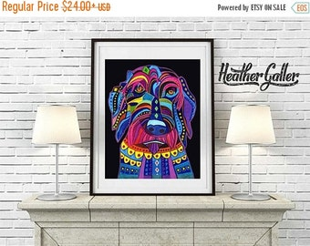 50% Off Today- Labradoodle art dog  Art Print Poster by Heather Galler (HG556)