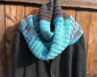 Arctic Blast Crochet Scarf
