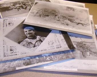 9 Photographs M C Ragsdale 1905 Texas Mexico Native Residents Antique