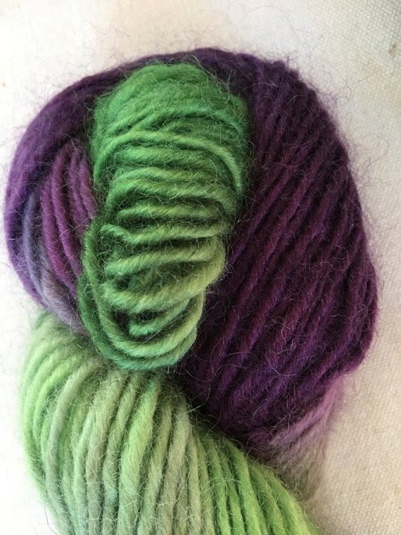 Purple Lime Maine Mohair Wool Lopi