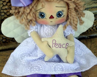 Primitive Raggedy Doll - Angel of Peace