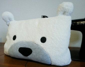Cute Polar Bear Pillow, Decorative Pillow, Soft Pillow, Nursery Pillow, Small Pillow | Home Decor | Polar Bear Cushion