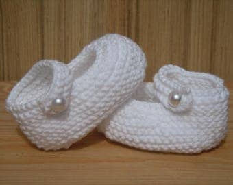 Hand knitted Cotton Baby Booties