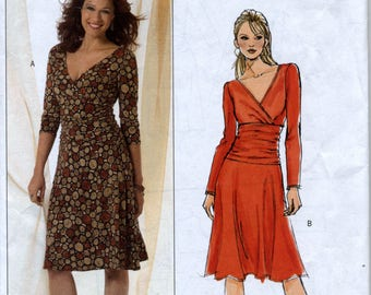 Slightly Flared Fitted Pullover Dress Sewing Pattern - Butterick 4914 - Sizes 8-10-12-14 - UNCUT