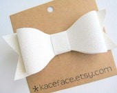 White Glitter Bow Headband