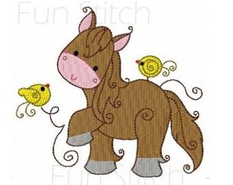 set of 10 swirly farm animals machine embroidery design digital download