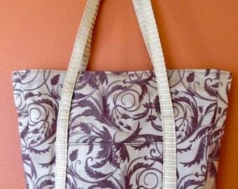 Cher #07  Designer Fabric Tote, Totes, Knitting Bag, Knitting Bags, Knitting Tote, Handbags, Shoulder Bag, Messenger Bag, Shoulder Totes