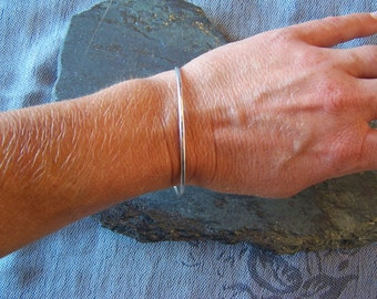 Sterling Silver Bangle Bracelet, MADE TO ORDER