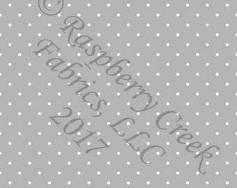 Light Grey and White Pin Polka Dot 4 Way Stretch Jersey Knit Fabric, Club Fabrics