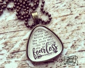 she is FEARLESS (2 Timothy 1:7) arrow necklace