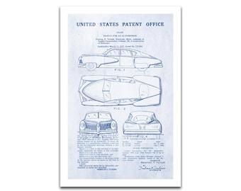1948 Tucker Sedan Patent Art Giclee on archival matte paper