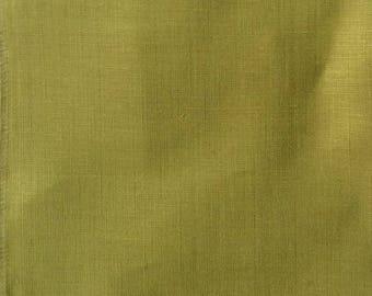 European Linen in Kiwi green multipurpose fabric