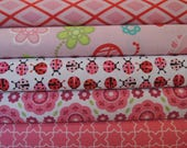 Lady Bug Rag Quilt Kit, Easy to Make, Personalized, Bin L, Optional Sewing Available