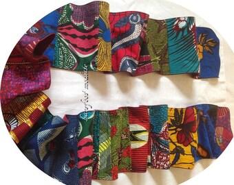 OOAK Bohemian neckwear, Vibrant African Patchwork Scarf, Winter Spring Wear, Barefoot Modiste Handmade, Boho Gypsy Clothing, Hippie Threads