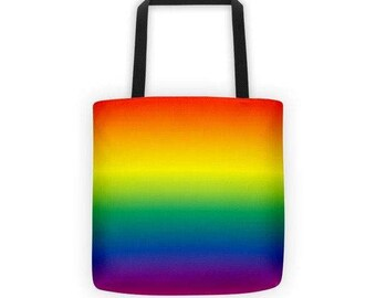 Rainbow Ombre Tote Bag