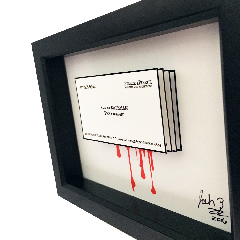 american psycho patrick bateman business card 3d art