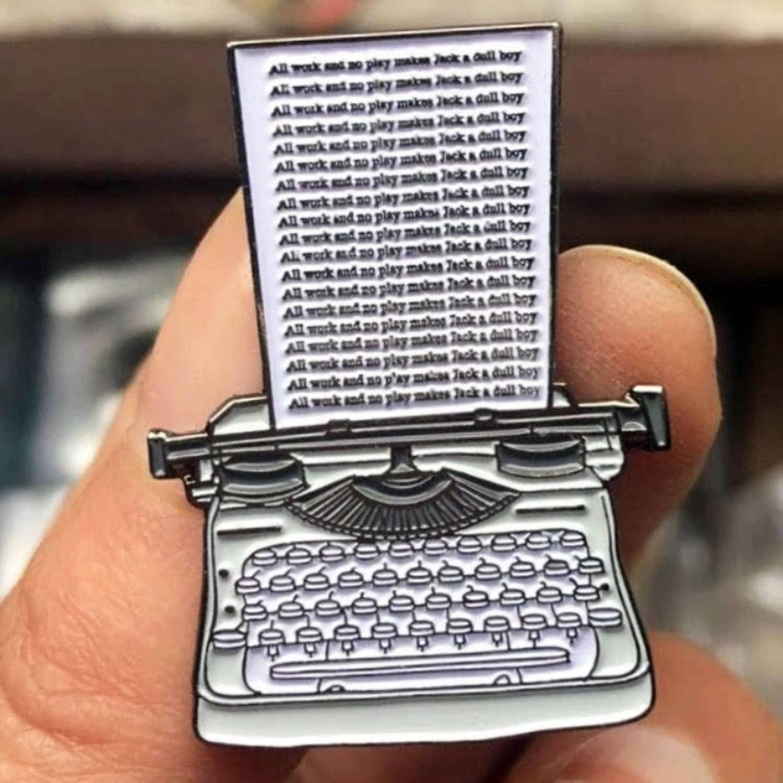 Enamel Pin Horror The Shining Pin Art Typewriter The Shining
