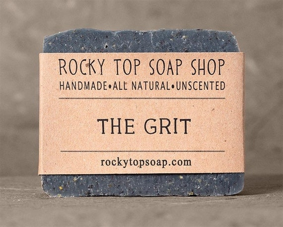 The Grit - Scrub Soap, Exfoliating Soap Bar, Hand Soap, Cold Process Soap, Vegan Soap, Mens Soap, Unscented Soap